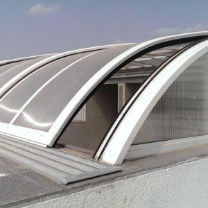 پروفیل آلومینیوم ریلی متحرک سقف استخر