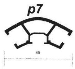 پروفیل آلومینیوم پارتیشن P7