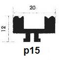 پروفیل آلومینیوم پارتیشن p15