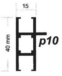پروفیل آلومینیوم پارتیشن p10