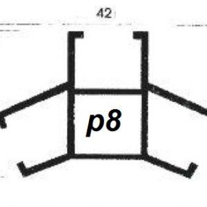 پروفیل آلومینیوم پارتیشن p8